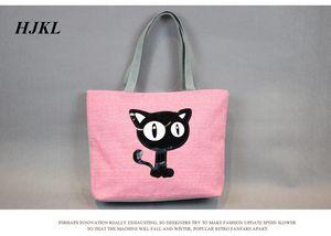 HJKL VENTA CALIENTE pequeño gato lindo pequeño cuadro con bolso, bolsa de lona, fabricante de paquetes de arte fresco de venta directa que
