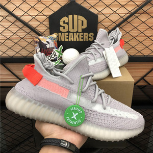 Superiore 2020 Kanye West Uomo Donna Running Shoes Zebra Cinder Fanale posteriore riflettenti Israfil Asriel lino Sneaker scarpe da ginnastica con la scatola