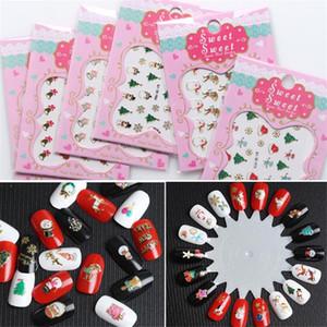 Prego Natal Adesivos DIY Craft Art Nail 3D Adesivos Xmas Party New Year Decoração de Natal Favor presentes crianças natal.Q