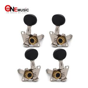 Ukulele 4 dize Sol ve sağ Gitar Tuning Peg tuşları Gitar Tunerleri Machine Head - Küçük oval Konkav Düğme