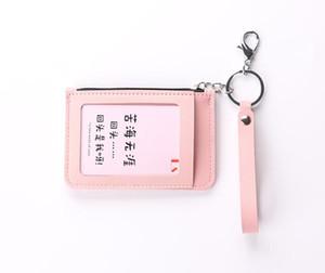 3pcs PU Zip ID Case avec Longe carte d'identité titulaire de la carte de crédit CardBus Case