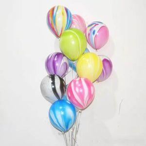 10 inch featured agate balloon printed cloud ball wedding bar KTV decorative marbled moire printed balloon