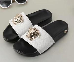 nw2551 ultimi caldi delle donne degli uomini diapositive Estate llLuxury spiaggia di disegno interno piatto pantofole dei sandali Casa Infradito
