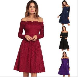 Patlama modelleri 2020 ilkbahar yaz yeni bir sınır ötesi kadın seksi uzun kollu moda dantel Günlük Elbiseler elbise