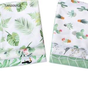 TIANXINYUE tela de algodón tejido de hoja de plátano metros de sarga de ropa de cama de bricolaje mosaico paño de costura que acolcha