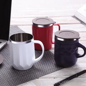 Drinkware con coperchio maniglia tè Mug400ml tazze da caffè in acciaio inox thermos isolamento bottiglia di acqua tazze ufficiale thermos tazza BH1364 TQQ