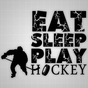 Eat Sleep Jouer Hockey Quote Sticker mural personnalité vinyle Stickers Muraux Boy Chambre Decal Wall Art Mural Stencil Poster