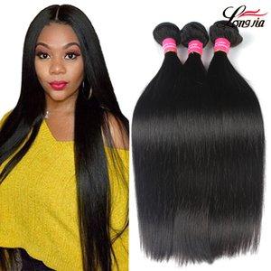 100% brésilien Vierge cheveux raides non transformés humain indien cheveux raides Weave Bundles bon marché humides et ondulés Cheveux brésiliens