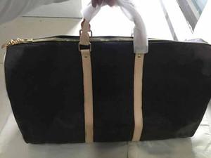 bolso del patrón del monedero de las mujeres bolsa de viaje bolsa de lona equipaje L flor estilo clásico señoras del cuero genuino bolsas de equipaje