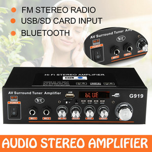 Freeshipping 12 V / 220 V / 110 V 360 W Bluetooth Stereo Mini Amplifikatör Ses Güç Amplifikatörü FM SD HIFI 2CH Araba Ev Için AMP Ses Müzik Çalar