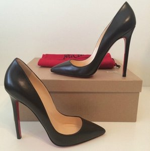 {Original Logo} Fashion Luxury Designer Red Bottom Bottoms High Heels Heel Black Silver Wedding Pumps Dress Women Womens Shoes