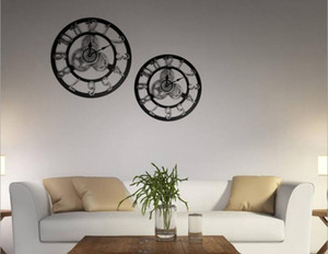 1PC Large Wall Clock Industrial Style Vintage Clock European Steampunk Gear Wall Home Decoration Dodern 3D Home Decor. JL 295
