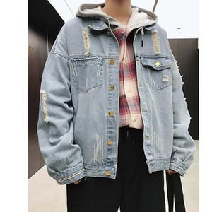 Tasarımcı Erkekler Jean Ceketler Vintage Lüks Kot Moda Marka Ceket Bahar Sonbahar Ceket Dış Giyim Giyim Yüksek Kalite