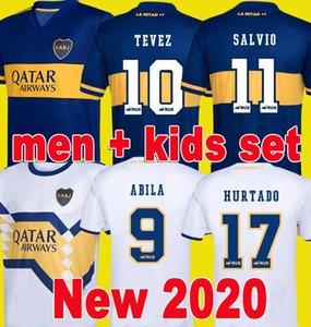 2020 camisa de futebol 2021 Boca Juniors futebol Jersey Casa Fora Boca Juniors GAGO OSVALDO CARLITOS PEREZ DE ROSSI TEVEZ PAVON JRS MEN KIDS Top