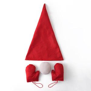 Guanti Naso albero di Natale allegro vestire Cappello Tatuaggi Set Decorazioni di natale a casa Navidad regalo di nuovo anno