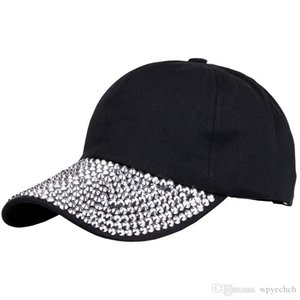 Bling Rhinestone Baseball Caps Snapback Cap for Women Hip Hop Handmade Hats Womens Beret Popular Hats
