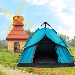 2-3 person Automatic Camping Tent Large Space Double Layer Tents Hydraulic Waterproof 4 Season Outdoor Family beach Hiking Tents