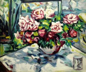 Vase Blumen-Ausgangsdekor-handgemaltes HD-Druck-Ölgemälde auf Leinwand-Wand-Kunst-Leinwandbilder 191127