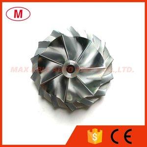 RHF5 42.00 / 59.00mm 7 + 7 lames sur mesure Taille Turbo roue de compresseur billettes / Aluminium 2618 / roue de fraisage pour Turbocompresseur cartouche / LCDP / Core