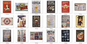Напитки Orange Напитки США бренд Пиво пить кофе Пластинчатые знаки Зубной налет металла Олово Знаки винный бар Украшение Vintage Home Decor