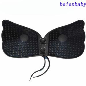 Kadın İç Çamaşırı Backless Sutyen Sexy Lingerie Katı Silikon Yapıştırıcı Jel Push Up Straplez Görünmez Göğüs Sutyen Bir B D DD