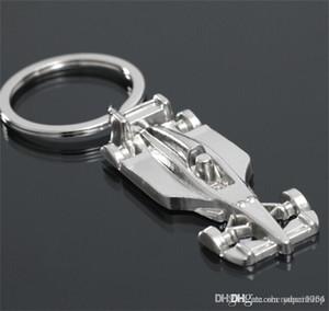 3D F1 Racing Car portachiavi in lega di zinco Raffreddare portachiavi portachiavi Keyfob Portachiavi Portachiavi Sports Car Key keychain2018 catena
