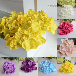 Bricolage Hydrangea Chef 30pcs / lot Hydrangea tête de mariage Décoration murale Hydrangea Centerpieces Head Party Home Decor