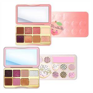 Brand Cosmetic Sugar Cookie Or Tickled Peach Mini Eyeshadow Make Up Palette Holiday Chirstmas 8color Eyeshadow Palette