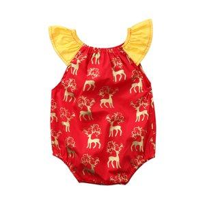 Pudcoco новорожденных Infant Baby Boy девушка Рождество Ползунки с плечом одежды Outfit Set 0-2оГО