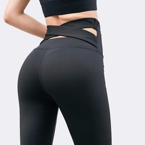 SALSPOR Casula High Waist Yoga Pants Women Cross Belt Push Up Stretch Gym Leggings Outdoor Jogging Sport Leggings Fitness Pants Y200601