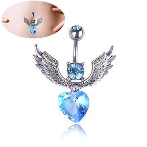 Anel de Umbigo de Aço Inoxidável Médica Body Jewelry Piercing Cristal Bow-Knot Umbilical Umbilical Prego Brincos Jóia Do Corpo