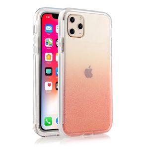 Для iPhone случай Ударопрочный силиконовый чехол Бампер Bling Bling Очистить задняя крышка для iPhone 11 про макс XR XS 7 8 Plus