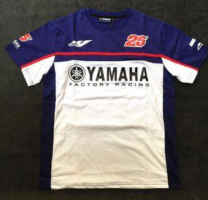 YAMAHA MOTO GP 25 سائق سباق تي شيرت للدراجات النارية ركوب الخيل القطن قصير الأكمام عادية تي شيرت