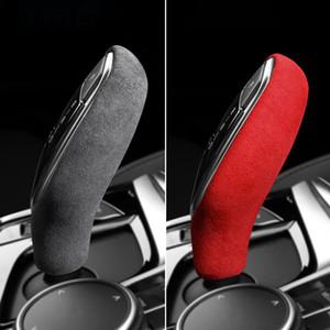 Alcantara del cambio adesivo manopola disposizione della copertura della ABS auto per BMW G30 G38 G32 G11 G12 G01 G02 G08 5 serie 7 serie 6GT X3 X4 LHD RHD