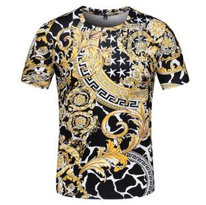 2020 Calle Moda Vintage Wear BAROCCO HOMME imprimen las camisetas de los hombres lujo de la marca de la medusa camiseta del algodón del verano camisetas casual camiseta diseñadores