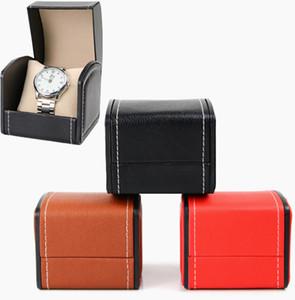 Свободный DHL 3 цветов Часов Box Кожа PU Arc Часы витринных ювелирные изделия держатель для хранения Box Single Slot Подарки Case