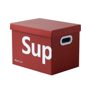 Sup Tide Marca Ins almacenamiento Rectángulos Personalidad cartón caja de almacenamiento Snack-regalo tronco de la caja de almacenamiento Caja Cajas de juguete