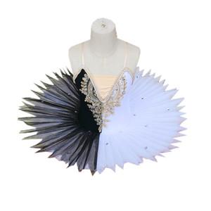 Ballett-Tutu Professionelle Ballerina Black White Swan Lake Tanz Kostüme Kind Kinder Pancake Tutu Kleinkind-Ballett-Kleid-Mädchen