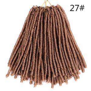 Shanghair 14inch Dreadlocks Hair Extensions Soft Faux Locs Crochet Synthetic Braiding Hair Extensions 70g pc Afro Hair Styles Black