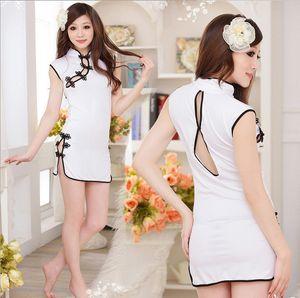 Taste Underwear Taste Cheongsam Pink Classical Beautiful Cheongsam Pretend Uniform Seduction One Piece 8035 A114