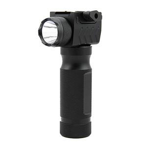 Luz táctica del arma de la caza de la linterna LED de aluminio del apretón vertical desmontable rápido