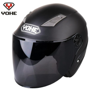 YOHE Motorcycle Open Face Helmet Casco Moto Casque Moto Scooter Helmets MaBlack Men Women Summer Capacetes de Motociclista