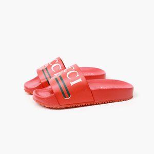Niño de la manera de los deslizadores Niños Niñas manera de la llegada zapatos del color sólido Niños Carta de diseño de impresión de deslizamiento sobre zapatillas sandalias quanlity superior