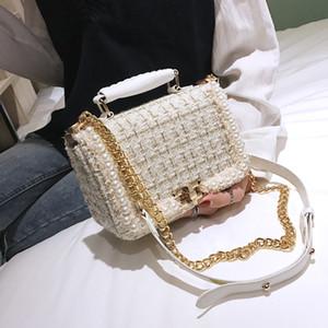 moda inciler yünlü kadın omuz çanta çanta zincirleri bayanlar crossbody çanta küçük flep kış çantalar 2019 kesesi