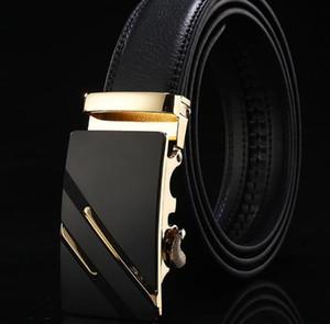 Männer Gürtel Männliche Lederarmbänder Für Männer Top Qualität Automatische Schnalle schwarz Gürtel Cummerbunds cinturon hombre