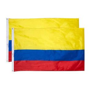 3x5 150x90cm Özel Kolombiya Bayrak Ulusal Asma Dijital Baskı Polyester Asma Reklam Kullanımı, En Popüler Bayrağı