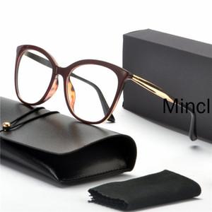القط جديد إمرأة نظارات إطار واضح أنثى نظارات إطار الموضة قصر النظر وصفة طبية نظارات عدسة FML