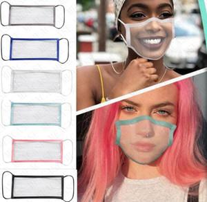 Visible Lip Facemasks Face Shield Lippen Expression Lippenlesen Masken Für Deaf Mute Beeinträchtigte D8511 mit Fenster leeren Gesichtsmaske Mode Hearing