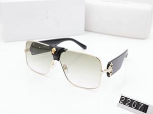 Luxo 2207 óculos escuros de grife para homens Moda óculos envoltório Sunglasses meio frame revestimento de fibra de carbono Espelho Lens Pernas Estilo Verão