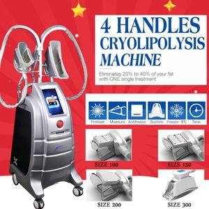 2019 Best Selling 4 Handles Cryolipolysis Slimming Freeze Fat Weight Loss Cool Sculpting Beauty Machine para salón de belleza CE